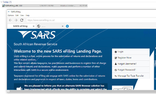 South Africa's Flash-enabled tax-filing site.